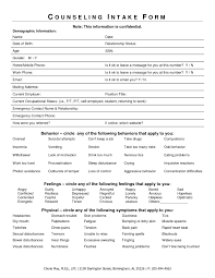 counseling intake form template template idea