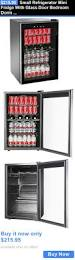 food and drink small refrigerator mini fridge with glass door