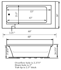elements 60 x 30 prodigy whirlpool tub