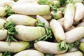 Green Root Vegetables - unique food daikon live in the now