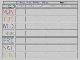 printable blank meal planner great of blank menu planner template printable chart templates 08