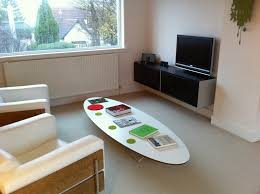 Surfboard Coffee Table White Surfboard Coffee Table For Small Family Room Design With