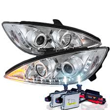 2004 toyota camry lights hid xenon 02 04 toyota camry led drl projector headlights chrome