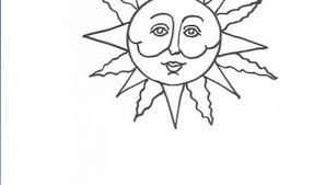 how to draw sun faces our pastimes