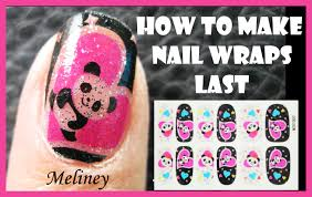 how to make nail wraps last longer full cover panda nail art