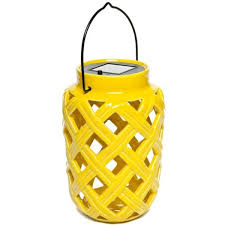 Solar Patio Lanterns by Home Accents Yellow Yellow Ceramic Solar Lantern 25 Liked On