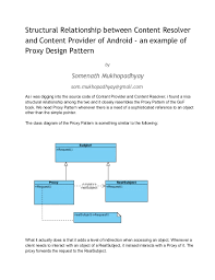 android pattern source code structural relationship between content resolver and content provider