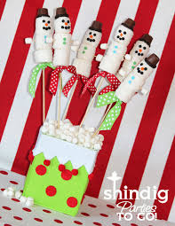 amanda u0027s parties to go marshmallow snowman treats