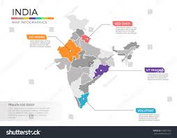 India Regions Map by India Map Infographics Vector Template Regions Stock Vector
