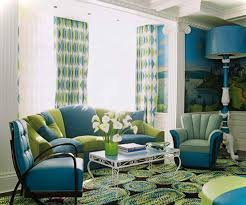 Green And Blue Curtains Blue And Green Living Room Curtains Blue Living Room