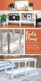 make your own buffet table diy turned leg buffet table buffet and interiors