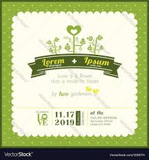 Invitation Card Samples Wedding Invitation Card Template Royalty Free Vector Image