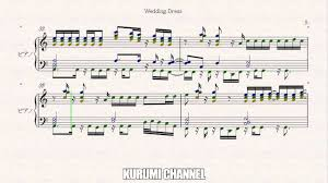 wedding dress piano sheet wedding dress 1 piano sheet tvxq dbsk 東方神起