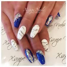 matte blue marble nails cute nails designs pinterest marble