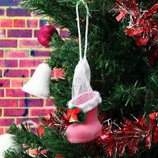 xmas santa boot shoes stocking christmas tree decoration hanging