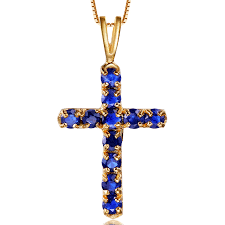 cross necklace fine jewelry images 18k jesus sapphire cross pendant necklace gold natural sapphire jpg