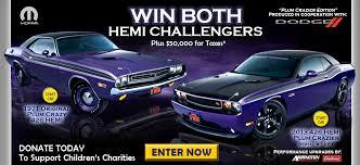 2014 dodge challenger plum purple win two plum hemi dodge challengers mopar
