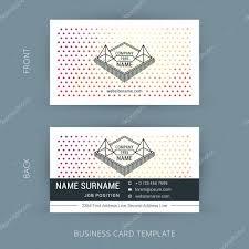 Biz Card Template Vector Creative Business Card Template With Line Art Hipster Logo