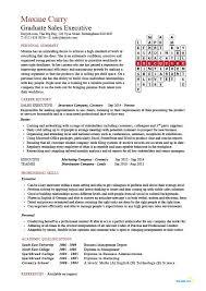 curriculum vitae sles for graduates graduate sales executive cv academic qualifications graduate