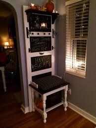 how to create a coat hook chalkboard bench hometalk