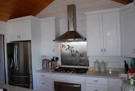 Kitchen With Stainless Steel Backsplash Stainless Steel Backsplash With Sea Turtles R Mended Metals Llc