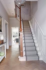 Painting A Banister White Carpet Runners For Stairs Staircase Traditional With Banister