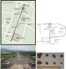 Teotihuacan Map Spot Reading Of The Absolute Paleointensity Of The Geomagnetic