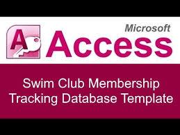 Excel Membership Database Template Microsoft Access Swim Membership Tracking Database Template