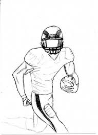 drawing of a football player drawing art library