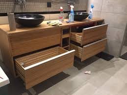 Bamboo Bathroom Furniture Custom Bamboo Bathroom Furniture With Godmorgon Ikea Hackers