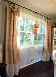Curtains For A Picture Window Lengthened The Shower Curtains By Sewing Material From A Wal