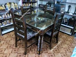 inlaid dining table and chairs arts of mysore rosewood furniture