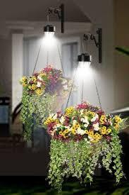 ideas hanging baskets with solar lights 1036 illuminate