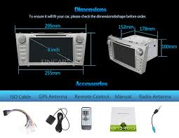 toyota camry 2007 audio system eincar android 5 1 audio car dvd player for toyota camry