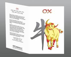 year of the ox 1997 year of the ox greeting cards 2pk or 12pk birth years 1925