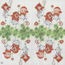 decoupage paper napkins of mice in tree chiarotino