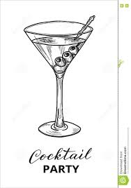 martini clip art hand drawn martini cocktail stock vector image 74631546