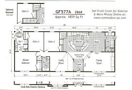 Triple Wide Manufactured Home Floor Plans Double Wide Floor Plans 4 Bedroom Ideas Including Home Thats Right