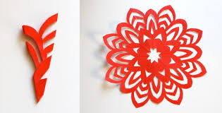 How To Make A Snowflakes Out Of Paper - how to make 5 pointed paper snowflakes how about orange