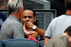 yankees reduced to tears after little struck by foul ball