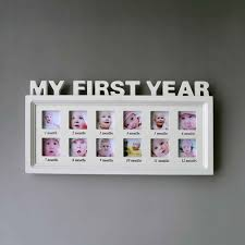 Baby Shower Picture Frames Photo Frame Artificial Board Baby My First Year Picture Frame