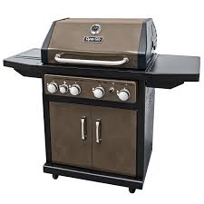 Backyard Grill 4 Burner Gas Grill by Dyna Glo Bronze 60 000 Btu 4 Burner Lp Gas Grill