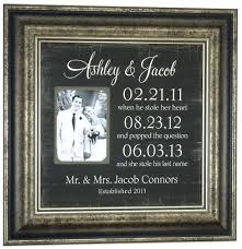 engagement gift from parents wedding gift for personalized picture frame groom