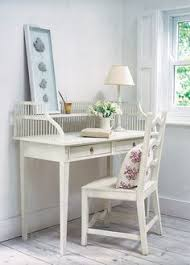 louis french writing desk with 3 drawers white painted french