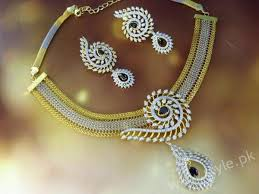 gold set in pakistan stylish bridal necklace sets 2017 wedding jewelry for brides