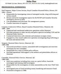 Sample Resume With Experience by Sample Police Officer Resume 6 Examples In Word Pdf