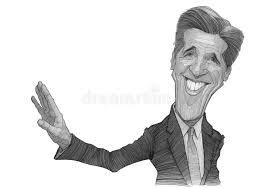 john kerry caricature sketch editorial photo image 33524521