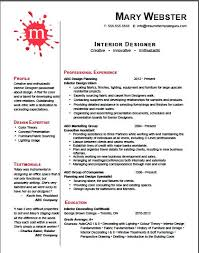 best solutions of sample resume of interior designer with