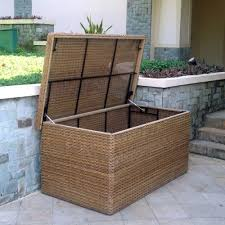 Patio Cushion Storage Bin by Montana Rattan Garden Cushion Storage Box Outdoor Cushion