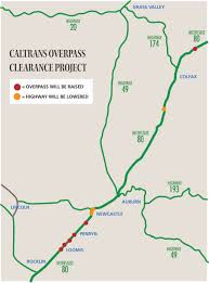 Caltrans Traffic Map Caltrans Announces 36 Million I 80 Overpass Clearance Project